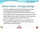 smart home energy savings