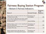 fairness buying station program1