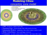 modeling cities concentric zone model