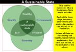 a sustainable state