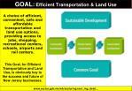 goal efficient transportation land use
