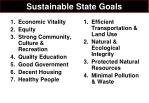 sustainable state goals