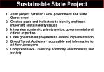 sustainable state project