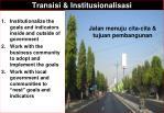 transisi institusionalisasi