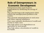 role of entrepreneurs in economic development