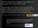 unilin quickstep integrates business unit processes from around the world