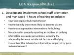 lea responsibilities