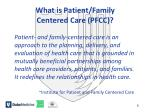 what is patient family centered care pfcc