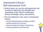 assessment literacy self assessment tool