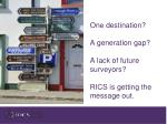 one destination a generation gap a lack of future surveyors rics is getting the message out