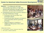 center for american indian economic development