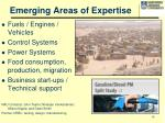 emerging areas of expertise