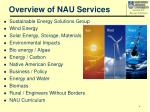 overview of nau services