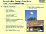 sustainable energy solutions from concept to realization