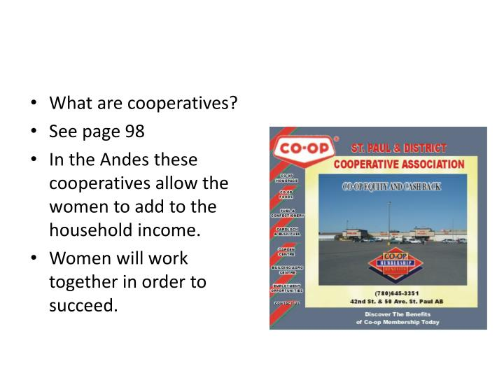 What are cooperatives?