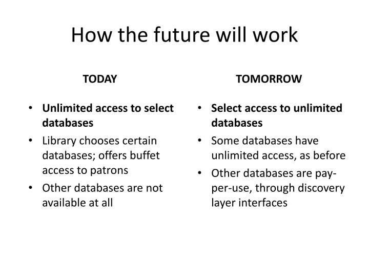 How the future will work
