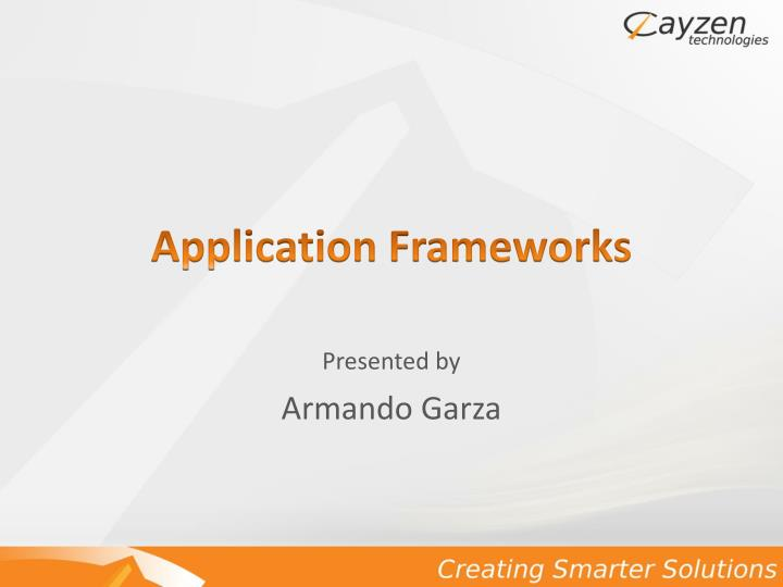 application frameworks n.