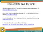 contact info and key links