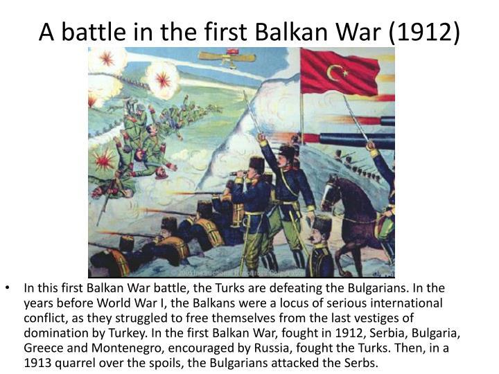 A battle in the first Balkan War (1912)