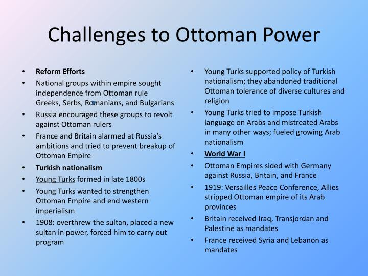 Challenges to Ottoman Power