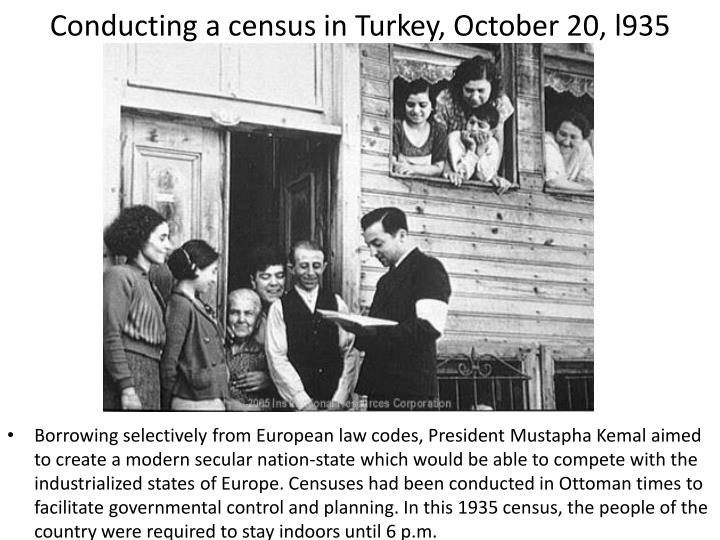 Conducting a census in Turkey, October 20, l935