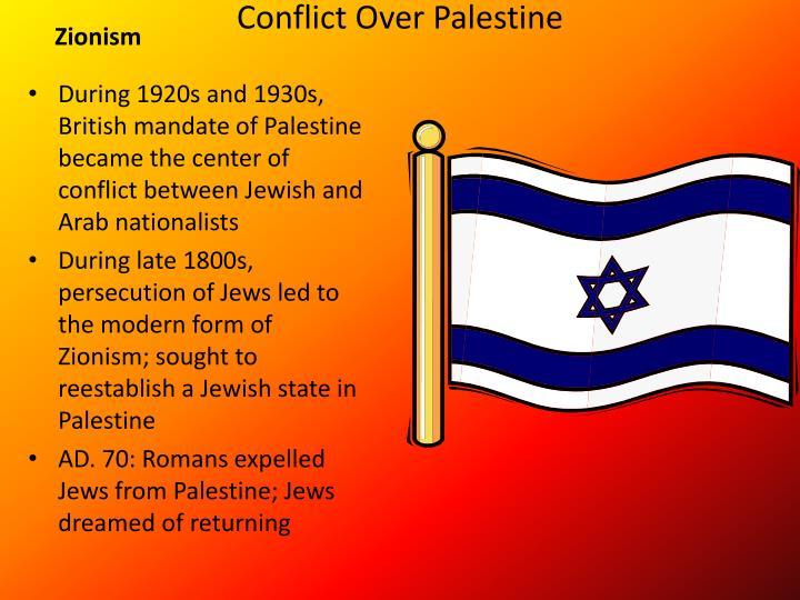 Conflict Over Palestine