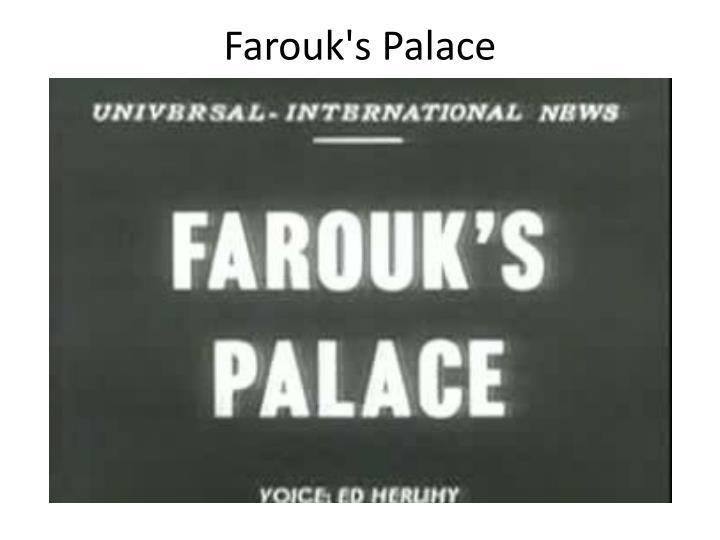 Farouk's Palace