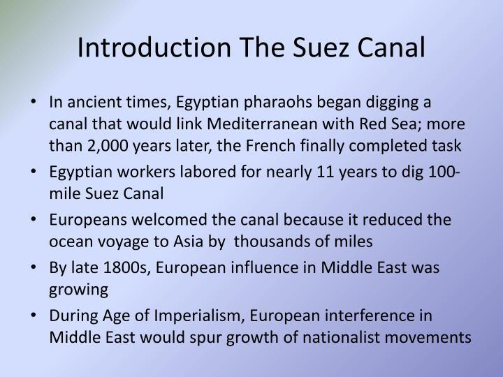Introduction The Suez Canal