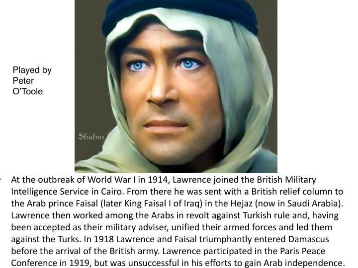 Played by Peter O'Toole