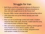 struggle for iran