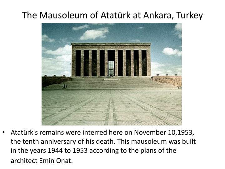The Mausoleum of Atatürk at Ankara, Turkey