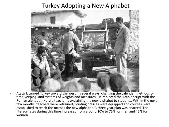 Turkey Adopting a New Alphabet