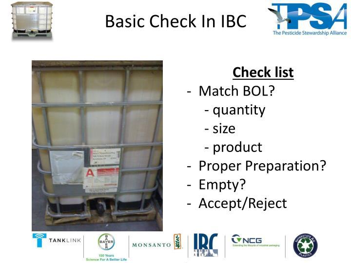 Basic Check
