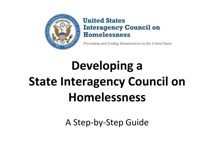 developing a state interagency council on homelessness a step by step guide n.