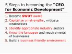 5 steps to becoming the ceo for economic development