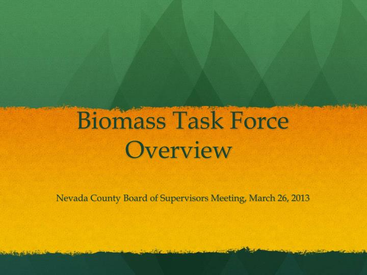 biomass task force overview n.