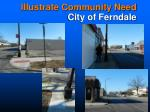 illustrate community need city of ferndale