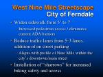 west nine mile streetscape city of ferndale