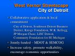 west vernor streetscape city of detroit