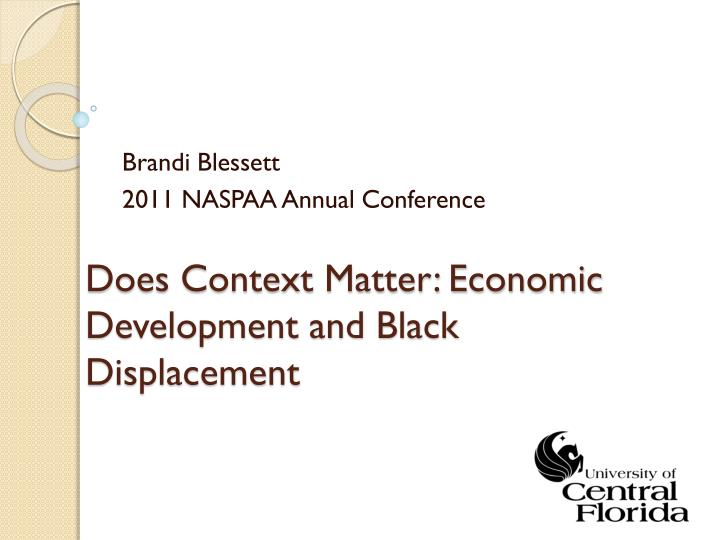 does context matter economic development and black displacement n.