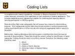 coding lists