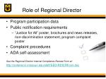 role of regional director