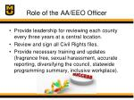 role of the aa eeo officer