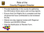 role of the county program director