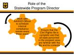 role of the statewide program director