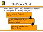 the missouri model