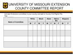 university of missouri extension county committee report