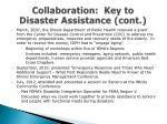 collaboration key to disaster assistance cont