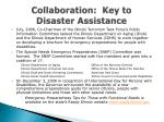 collaboration key to disaster assistance