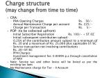 charge structure may change from time to time